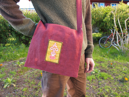 Viking age bag with Gdynia motive - closer look by anitheya