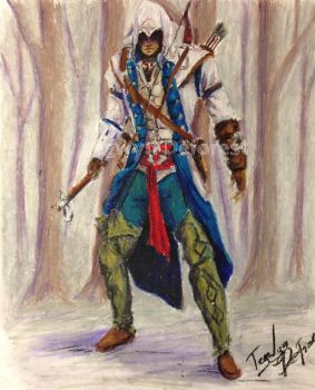 Assassins Creed Conner Oil Pastel by TegwynDeForest