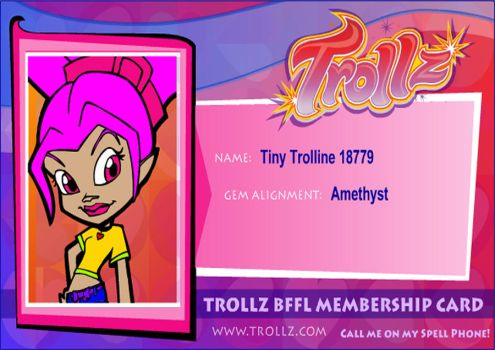 Trollz.com my membership card ^^ by Iloveyoukisshu