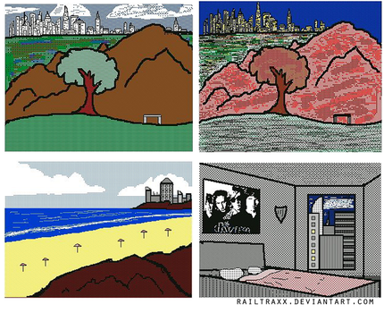 Scenery Pieces Collage by RailTraxx