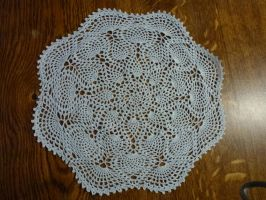 Crocheted tablecloth by crocheter