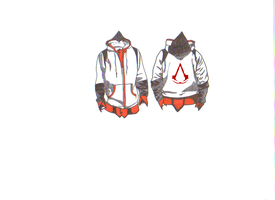 modern Assassins creed altair hoodie design by DEATHROW1356