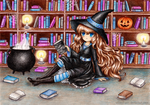 C: Witch's Library by SilverChaim