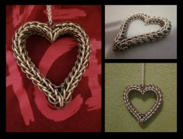 Heart Pendant Chainmaille by WestRob