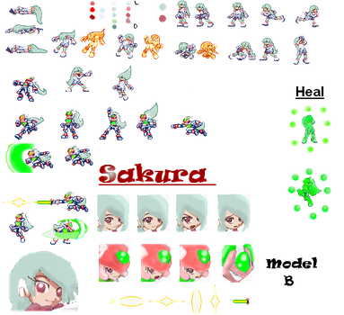 Sakura sprite sheet by naomithehedgehog333