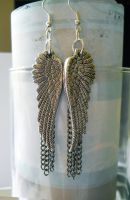 Angel Chain Earrings by LypticDesigns