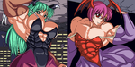 Morrigan and Lilith by RENtb