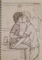 Solangelo in the infirmary by HimekoUchia