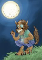 8 October 2014. Happy Full Moon Night. by wolfmarian