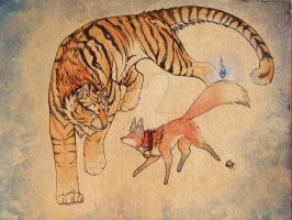The Fox Borrows The Tiger's Terror by Penfell