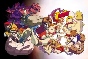 Street Fighter Alpha DVD wrap by theCHAMBA