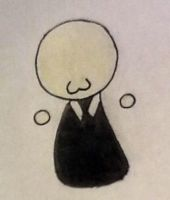 Slender man -mini chibi- by Nikki1026