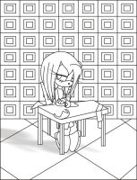 Lineart - loneliness by angell0o0