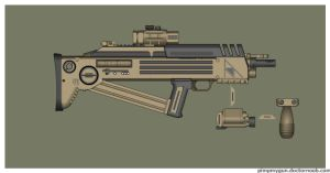 Wasteland Arms Rasch QRW (Quick-Response Weapon) by Direrain