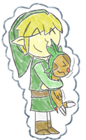 Link and Chespin! by JabuJabule