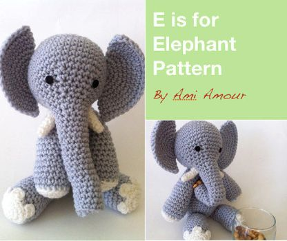 E is for Elephant Pattern by Ami-Amour