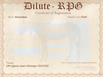 LWs Queen Anne's Revenge CDLXXXI D-RPG Certificate by kagetora4ever