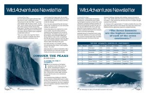 Wild Adventures Newsletter other side by Dynasthai