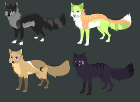 Fox Adoptables: 3/4  -price lowered- by Paradox-Zee