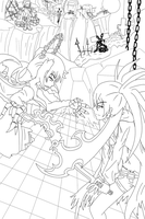 Black Rock Shooter Lineart OwO by jaja-sick-bear