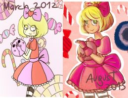 Draw this again: Candy Girl redraw by dinosauriomutante
