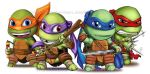 TMNT Chibis by Jonathan Tran wm by Johnny-Tran
