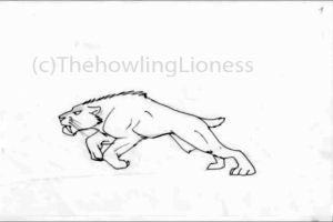 Smilodon Run Cycle Animation by ThehowlingLioness