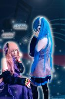 Luka Megurine And Miku Hatsune Cosplay by Tifa-Lee