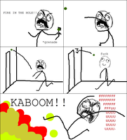 Grenade Fail -Rage Comic- by Albowtross91