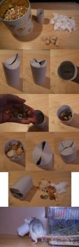 Tutorial: selfmade food role for rodents (rats) by Inu-saby