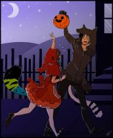 Trick or Treat Candy Thief by DestructorCAT