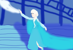 Elsa  LET IT GO by freacls