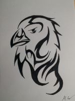 Tribal eagle by Carlitos-Girl