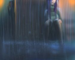 Unsaid feelings in the rain by Kamilytia