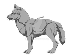 Wolf Lineart AGAIN by Coonpelt