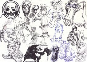 Sketches and Doodles 16 by phoebus-chango