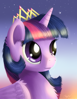 Royalty Portrait - Princess Twilight Sparkle by NiegelvonWolf