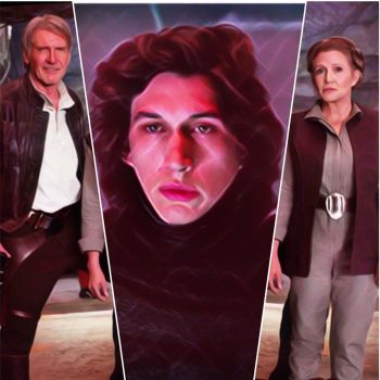 Han, Ben and Leia - The Force awakens - by Doveri