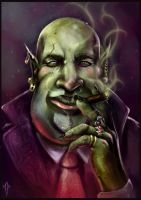 Goblin Mob Boss by JustMick