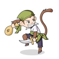 The Thief Monkey by Thunderdee