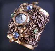 Steampunk Watch Cuff by byrdldy