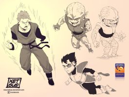 Dragonball sketches by KetsuoTategami