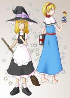 Touhou: Marisa and Alice by Tim-san