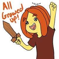 All growed up! by MissPomp
