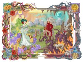 Ozma and Ruggedo of Oz by Iluvendure