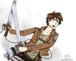 Eren sketch fanart by ForbiddenDarkSoull