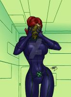 Jean Grey Slimed 2015 COLORED by LucasAckerman