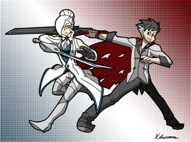 Winter and Qrow by ObsidianWolf7