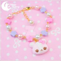 Cute ice-cream bear Bracelet by CuteMoonbunny