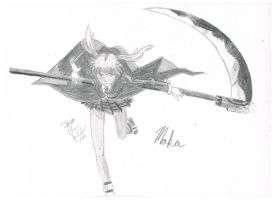Maka and Soul-scythe- by Blue-eyed-girl-23